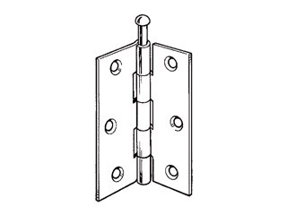 (Securit Loose Pin Butt Hinges Brass Plated (pair), 75mm)