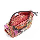Vera Bradley On the Go Shoulder Hobo Style Handbag in Ziggy Zinnia
