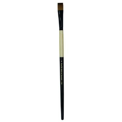 - Dynasty Black Gold Series Long Handled Synthetic Brushes 8 bright 1526B by Dynasty