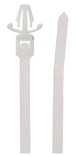 Panduit PLWP1M-D Wing Push Mount Tie 4.3-Inch Length 500-Pack Miniature Nylon 6.6 Natural