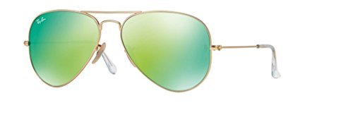 Ray Ban RB3025 112/19 58M Matte Gold/Green Mirror Multi Green ()