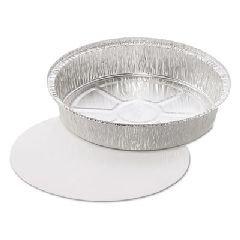JIF8090 - Aluminum Pans, 44 Oz, 9quot;dia X 1 2/5quot;h