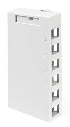 (Leviton 41089-6WP QuickPort Surface Mount Housing, 6-Port, White )