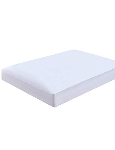 cieltown Smooth Fabric Mattress Protector Fitted Sheet 2-in-1, 100% Waterproof, Premium Hypoallergenic Mattress Cover, Fitted up 18 Deep Pocket (White, Queen)