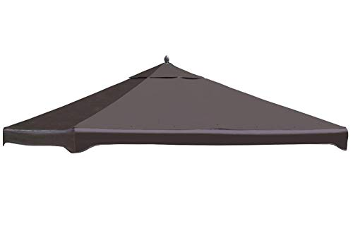 Garden Treasures Brown Polyester Replacement Canopy Top for 10-ft x 12-ft Metal Gazebo Item# 57295 Model# C-1210GZN UPC# 769455757111 (Garden Treasures Brown Gazebo Replacement Canopy Top)