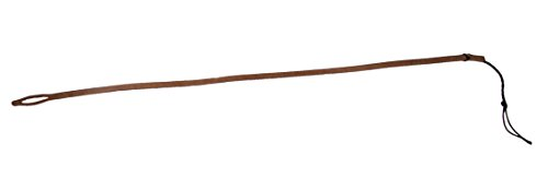 One Dark Brown Aussie fall, Bullwhip Spare Kit 1 Fall and 6 Assorted Nylon String Cracker Poppers - Indiana Jones Whip Kit