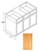 Chadwood Series Vanity Sink Cabinets Oak, Flat Panel Door