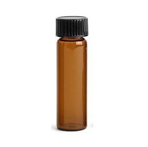 Premium Vials B4702-36 Glass Vial with Screw Cap, 1 Dram Capacity, Amber (Pack of 36)