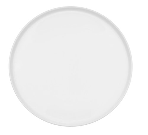 CAC China PP-12-R Porcelain Round Coupe Pizza Plate, 12-Inch, Super White, Box of 12 ()