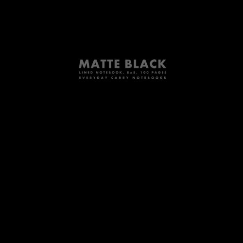 Download Matte Black Lined Notebook, 8x8, 100 Pages (Big Square Sized Notebooks) ebook