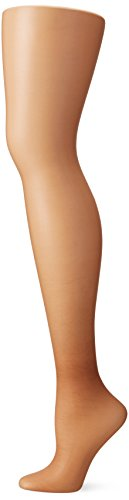 Hanes Silk Reflections Women's High Waist Control Top Sandalfoot Pantyhose, Barely There, C/D