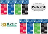 Office Products : Bazic Top Bound Spiral Memo Books, 3-Inch-by-5-Inch, 50 Sheets Per Book, Total 8 Memo Books