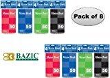 Small Memo Pads - Bazic Top Bound Spiral Memo Books, 3-Inch-by-5-Inch, 50 Sheets Per Book, Total 8 Memo Books