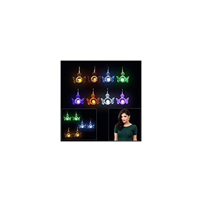 Dazzling Toys New GLOWING Angel LED Earrings 4 pairs/ 4 colors: Toys & Games