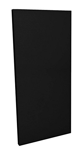 GeerFab Acoustics RoomZorbers PZ48BLACK1 ProZorber 24x48 1'' Thick Single Acoustical Treatment Panel, Black by GeerFab Acoustics