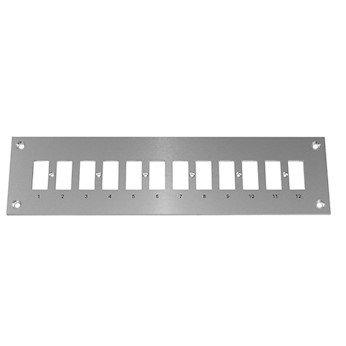 Digi-Sense Thermocouple Mounting Panel Horizontal Standard Connectors; 12 Circuits