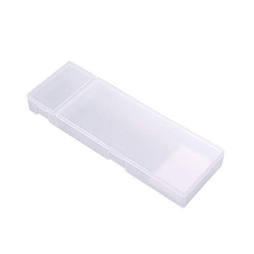 - Pencil Case Multi-function Translucent Frosted Matte Pen Storage Case Pencil Holder Stationery Box White