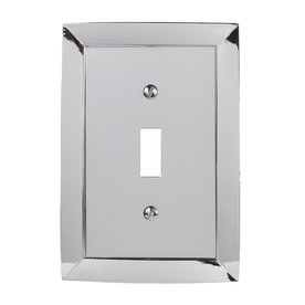 allen roth 1gang polished chrome standard toggle metal wall plate