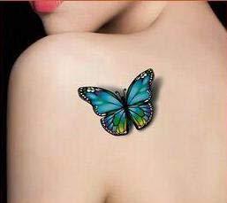Generic 3D Butterfly flash tattoo Waterproof Temporary Tattoo tatoo Tatto henna makeup halloween WM004B ()