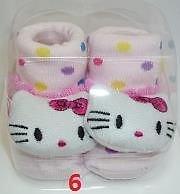 TechnoTec® Recién Nacido Bebé interior algodón antideslizante cálido calcetines animales dibujos animados zapatos zapatillas 8 White Rabbit 6 Kitty Cat