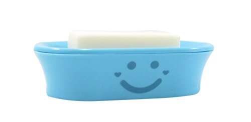 Happy Face Soap Dish 5 7/8 x 3 7/8 Neon Blue