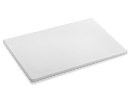 New Star Foodservice 28836 Cutting Board, 12x18x1/2-Inch, White ()