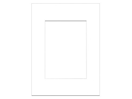PA Framing, Single Mat, 9 x 12 inches Frame for 6 x 8 inches Photo Art Size - White -