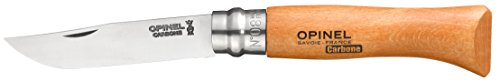 Opinel No.08 Carbon Steel Folding Pocket Knife with Beechwood Handle
