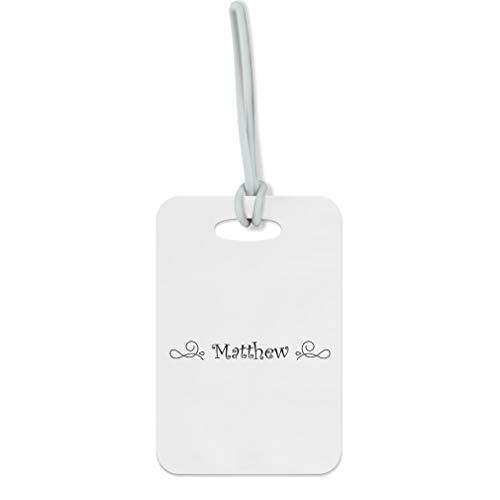 Personalized Custom Monogram Ornament Fiberglass plastic Luggage Tag Finder