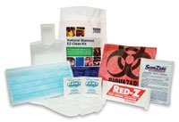 4221943 PT# 25000 Refill Kit National Standard EZ CleansFOR Bodily Fluids Ea Made by Safetec Of America Inc