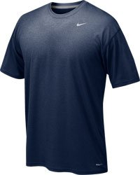 Nike Mens Athletic Active Dri-Fit Tee Shirt, Navy Blue, (Navy Blue Replica Jersey)