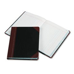 - Record/Account Book, Journal Rule, Black/Red, 300 Pages, 9 5/8 x 7 5/8