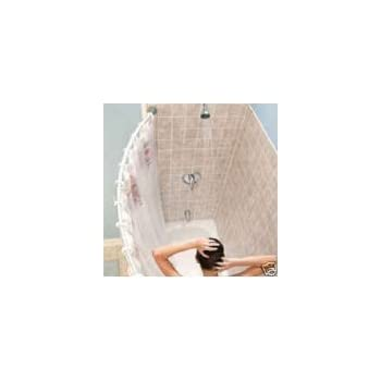 Exceptionnel Curved Shower Rod U2013 Aluminum, Adjustable 29 Inches   49 Inches, WHITE,  Hardware Included, Brand New