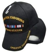 for Home TOPW All Weather Indoors Outdoors JumpingLight Operation Enduring Freedom Veteran Ribbon Black Baseball Hat Cap 608B Official Party