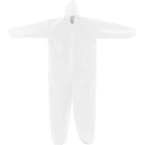 Disposable Microporous Coverall, Elastic Wrists/Ankles & Hood, White, Medium, 25/Case (GI0022) by Global Industrial (Image #4)