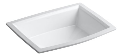 Kohler Sinks Corner - Kohler K-2355-0 Vitreous china undermount Rectangular Bathroom Sink, 22 x 16.88 x 8.88 inches, White