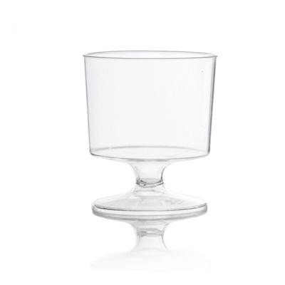 Clear 2 OZ Round Mousse Plastic Wine Glasses/Case of 480 ()