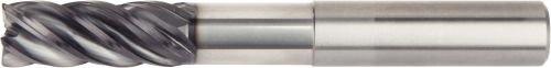 WIDIA Hanita 5VNC13005BW VariMill II 5VNC HP Finishing End Mill 0.5 Cutting Diameter Carbide 1.25 LOC 0.03 Radius 5-Flute RH Cut AlTiN Coating