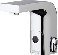Hytronic Edge Lavatory Sink Faucet With Dual Beam Infrared Sensor