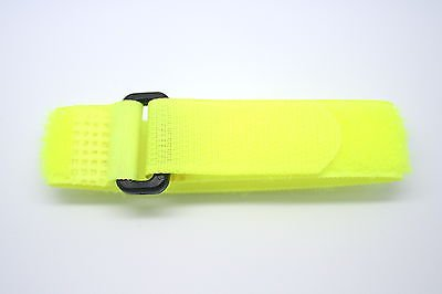 FREESTYLE QUICK GRIP 18MM VELCRO NEON YELLOW ACTION SPORT WATERPROOF WATCH BAND FITS CHUMS THE BAND