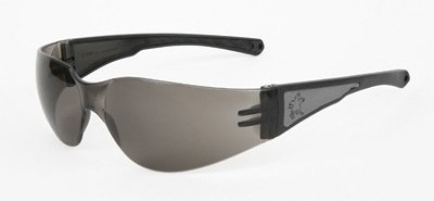 Crews(R) LuminatorSafety Glasses With Reflective Black Frame And Gray Polycarbonate Duramass(R) Anti-Scratch Lens by Crews Safety Products