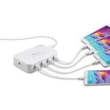 Qualcomm Quick Charge 2.0 4 Port USB DESKTOP & IN CAR CHARGING STATION - Infinity Desktops