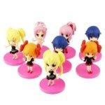 7CM Shugo Chara Action Figure PVC Display Toy Set(8-Piece Pack)