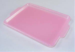 Pink Serving Tray, Japanese Erasers Accessory. 2 Pack.