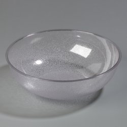 Carlisle 721507 Round Pebbled Salad Serving Bowl, 11 Quart, Clear (Pack of 4)