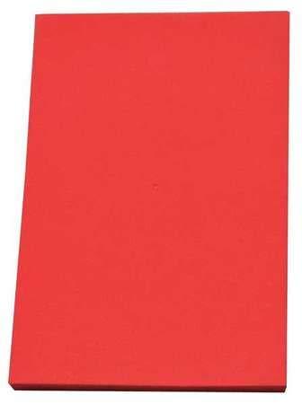 """Foam Sheet,48"""" L,24"""" W,1/4"""",Red"""