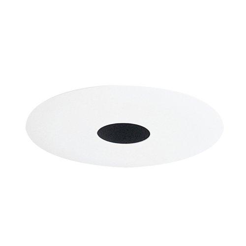 Juno Lighting 4in Trim - Juno Lighting 443B-WH 4-Inch Pinhole Recessed Trim, Black Baffle with White Trim