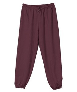 Badger Sportswear Men's Athletic Performance Elastic Waist Sweatpant, maroon, Medium