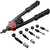 RZX 13'' rivet nut tool Nut/thread Hand Riveter blind rivet Kit M5 M6 M8 SAE 10-24, 1/4-20, & 5/16-18 W/ 60pc Rivnuts by Unknown
