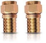 Weatherproof Crimp-On F Connector for RG-6/RG6QS Cable